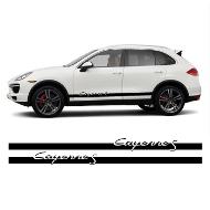 Kit Stickers Bandes Bas de Caisse Porsche Cayenne S