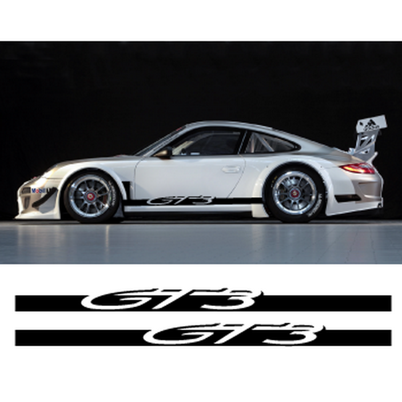 Porsche 911 Gt3 Side Stripes Decals Set