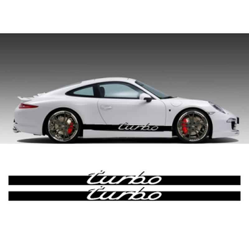 Turbo side stripes decals set