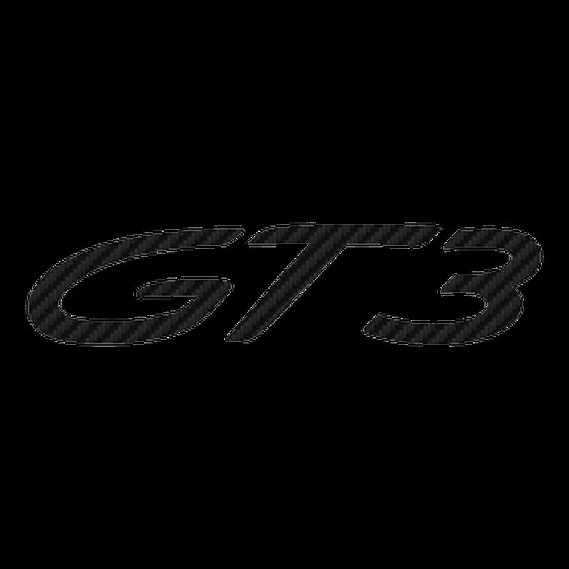 Porsche 911 GT3 RS logo Carbon Decal