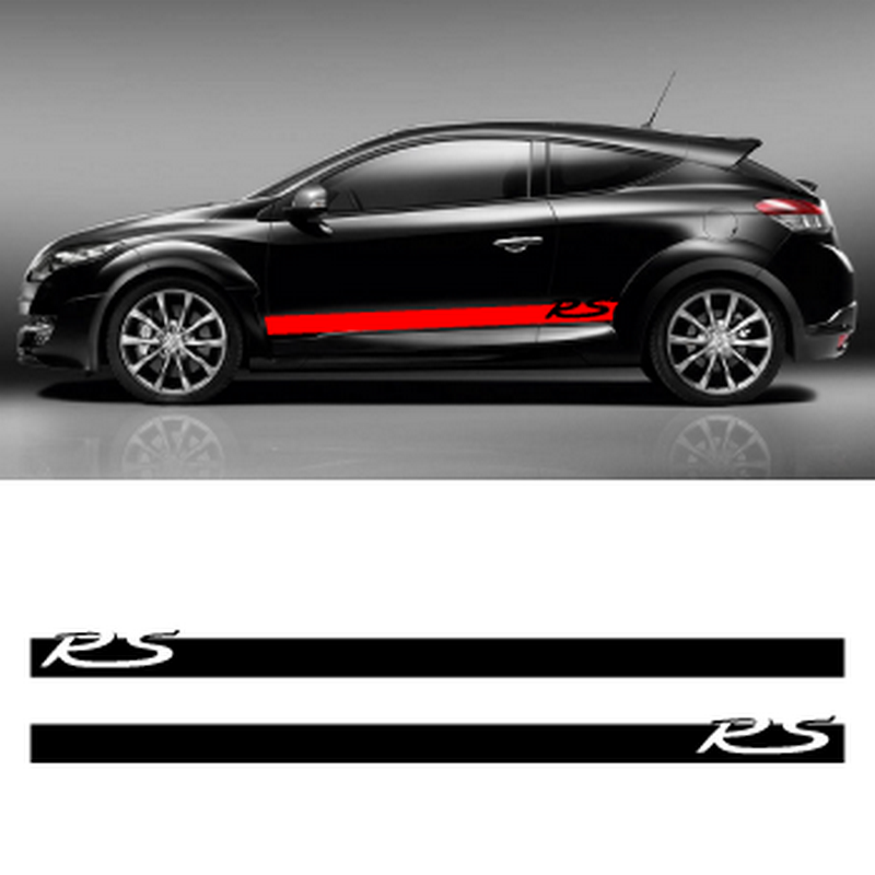 Renault Mégane RS side stripes decals set