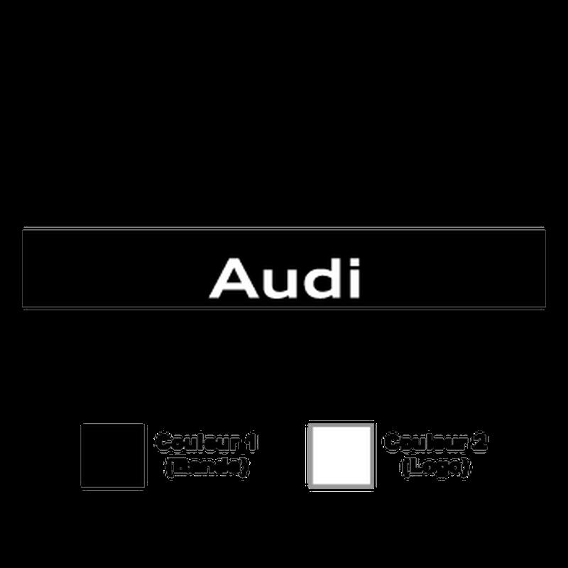 Sticker Bande Sonnenblende Audi