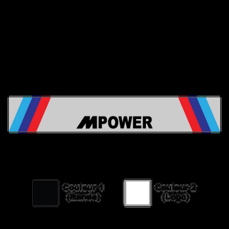 Sticker Bande Sonnenblende BMW M POWER