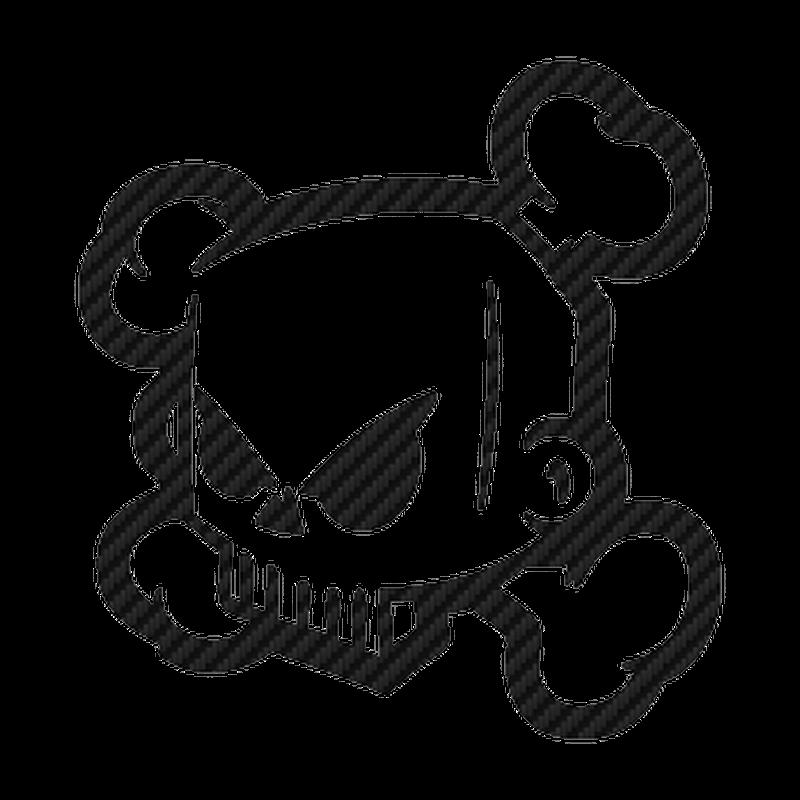DC Shoes Ken Block Skull logo Carbon Decal