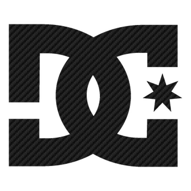Sticker Carbone DC Shoes Logo