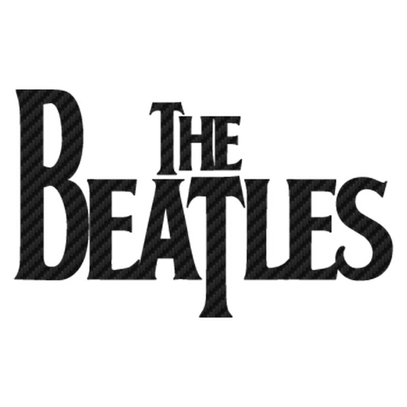 The Beatles logo Carbon Decal