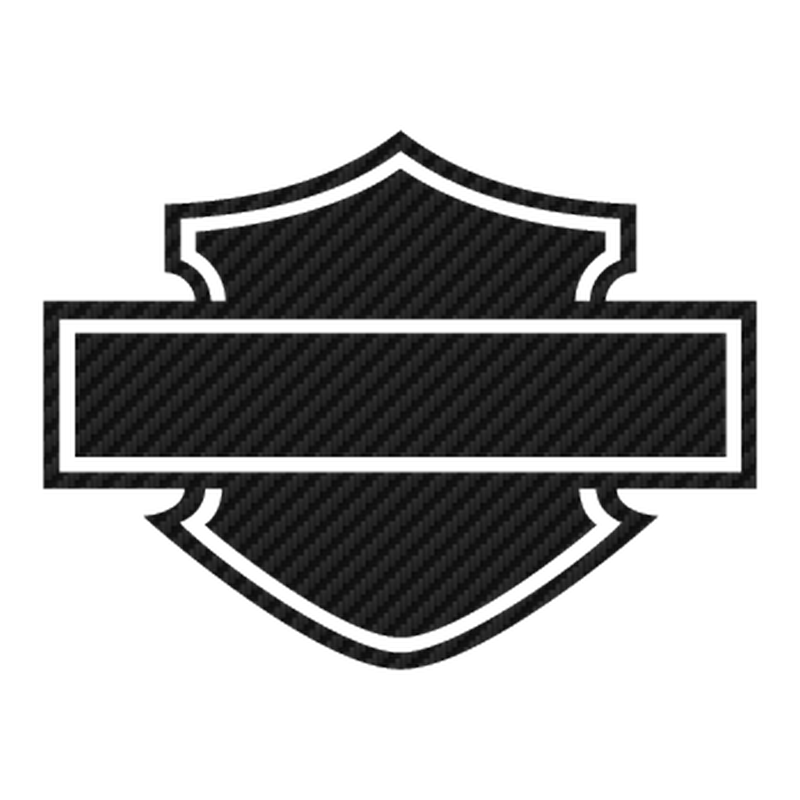 Harley Davidson Logo Silhouette Carbon Decal