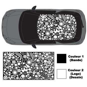 Flowers Graphic Art Car roof sticker