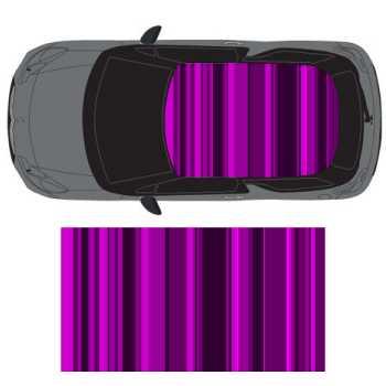 sticker deco toit auto graphic art nuances de violet. Black Bedroom Furniture Sets. Home Design Ideas
