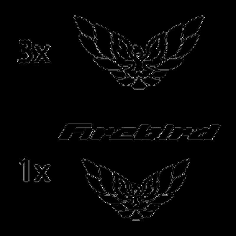 Kit Stickers Pontiac Firebird Logos