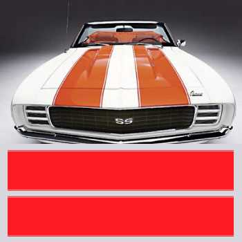 Chevrolet Camaro SS style hood stripes decals set