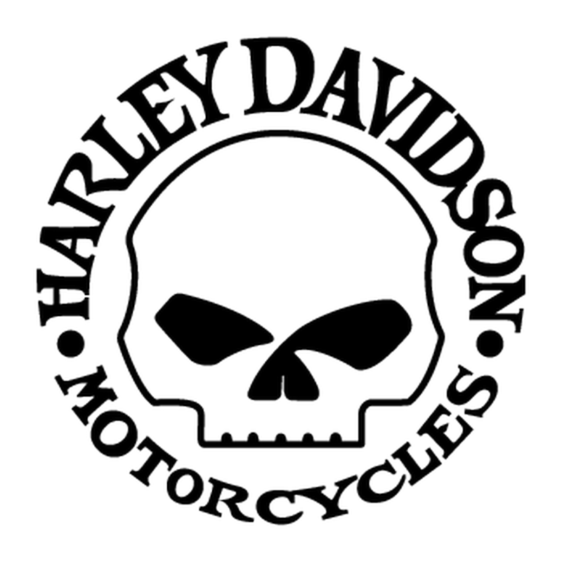 Harley Davidson Skull Decal 2nd model