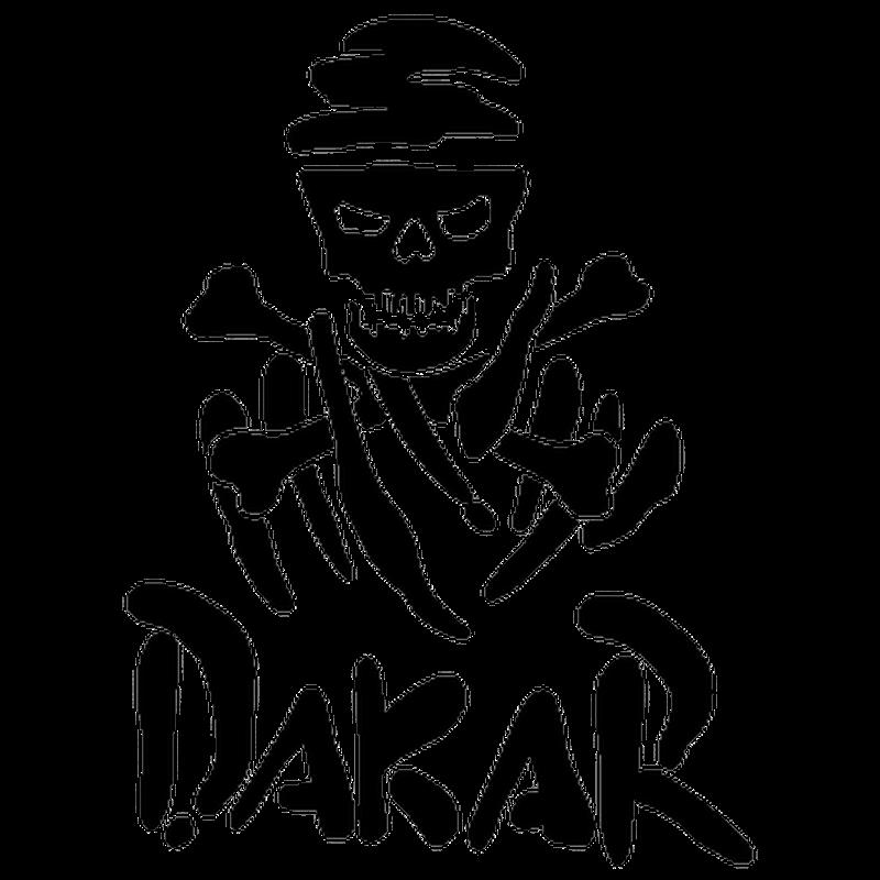 Sticker Dakar Tête de Mort