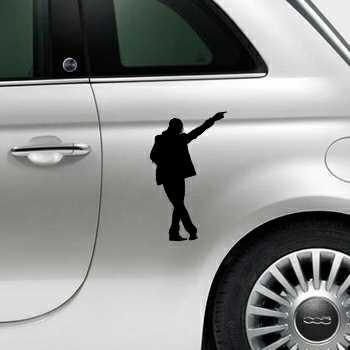 Sticker Fiat 500 Michael Jackson 8