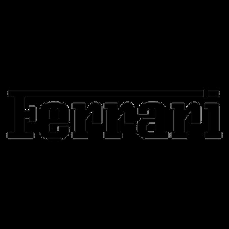 Ferrari Lettering logo 2013 Decal