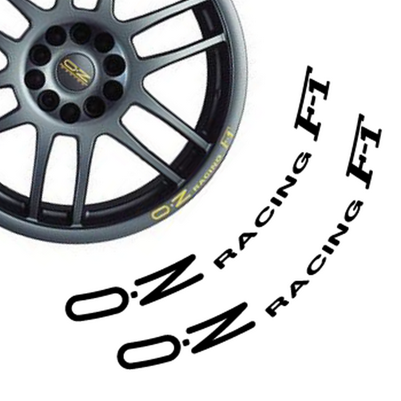 Set of 2 wheels decals OZ Racing F-1