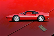 Sticker Déco Ferrari 308