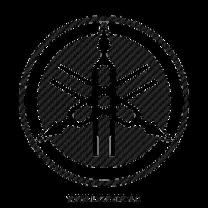 Yamaha new logo Carbon Decal 2