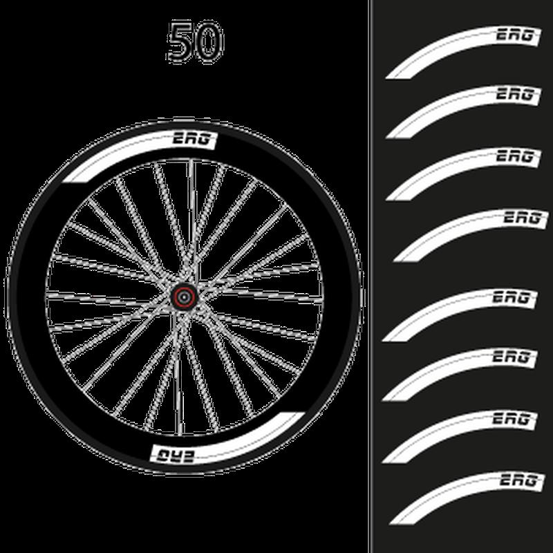 Set of 8 ERG Bike Wheels Decals 50mm