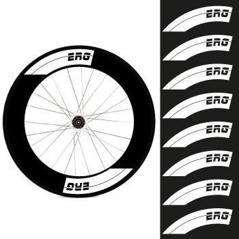 Set of 8 ERG Bike Wheels Decals 88mm