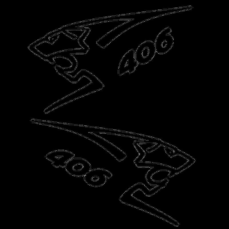 Peugeot 406 sport lion - Set of 2 decals