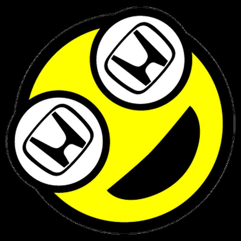 Sticker Smile Honda Logo