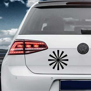 Sun Rays Volkswagen MK Golf Decal