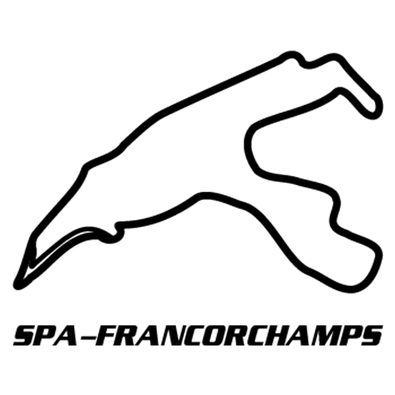 Spa-Francorchamps Belgium Circuit Decal 2