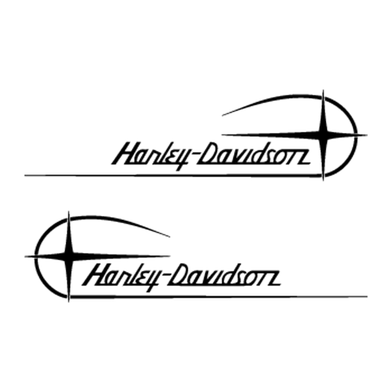 Harley Davidson motorcycles decals set