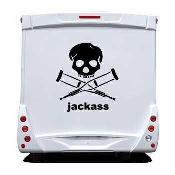 Jackass Camping Car Decal