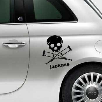 Jackass Fiat 500 Decal