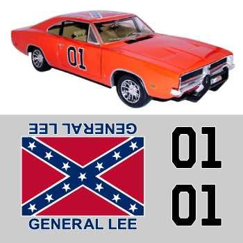 Dodge General Lee stickers set