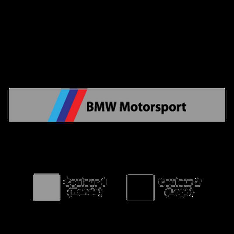 BMW Motorsport M Series Sunstrip car Sticker