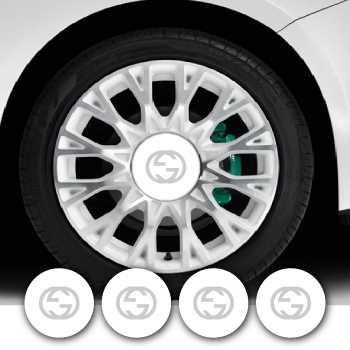 Set of 4 Fiat 500 Gucci Wheels Decals