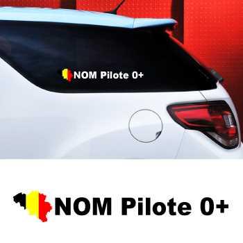 Set of 2 car Pilote Belgium Decals