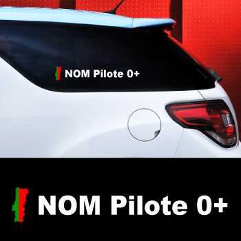 Set of 2 car Pilote Portugal Decals