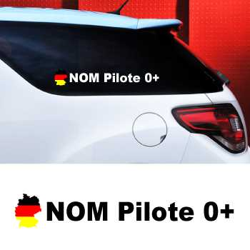 Set of 2 car Pilote Germany Decals