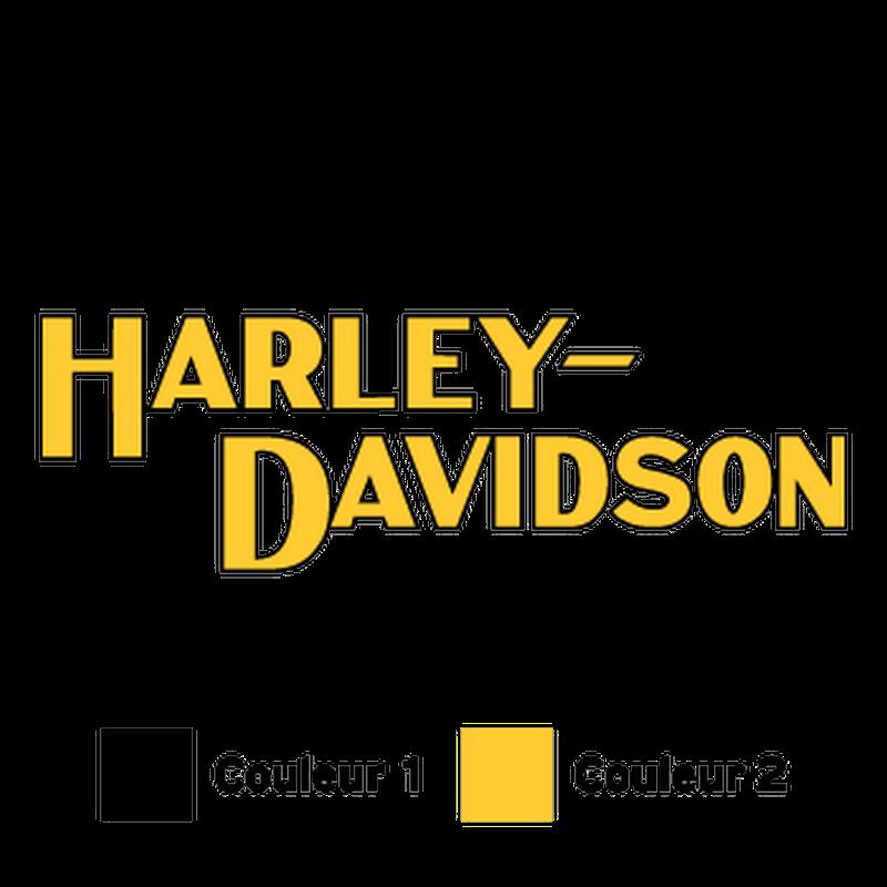 Sticker Moto Harley-Davidson Logo 1982, vintage ★