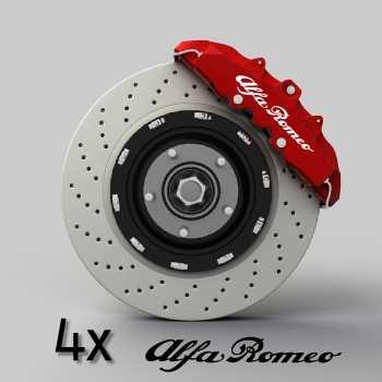 Alfa Romeo logo brake decals set