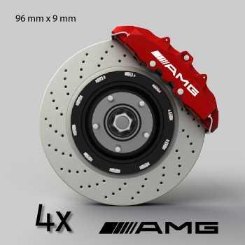 AMG Mercedes logo brake decals set