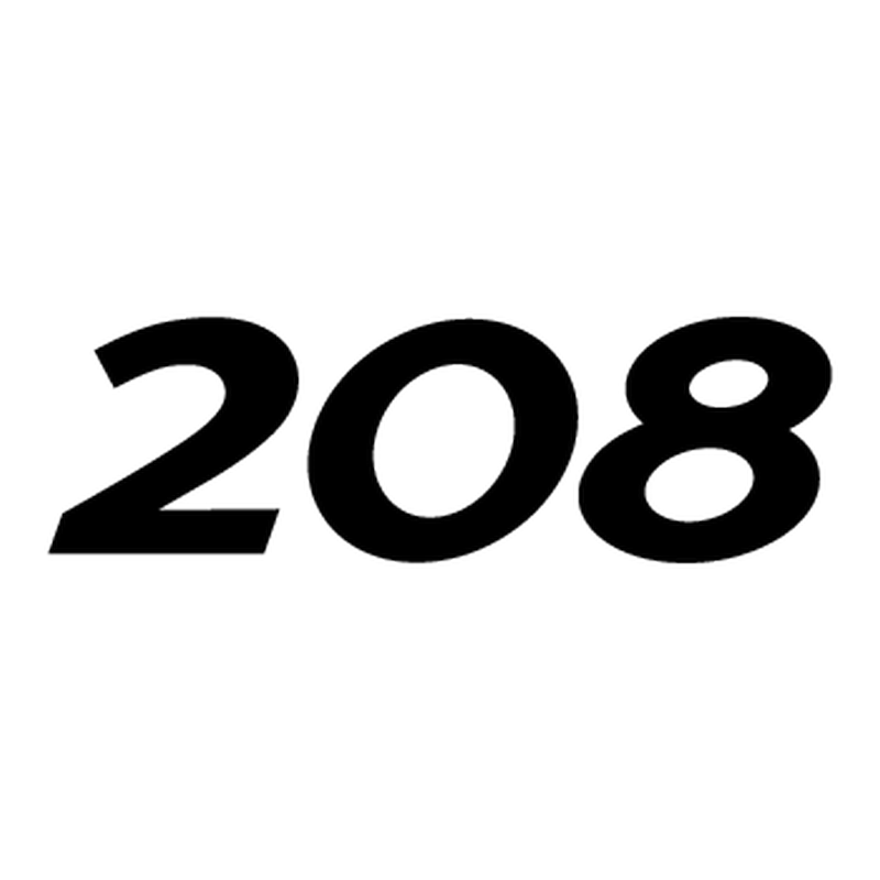 Peugeot 208 logo Decal