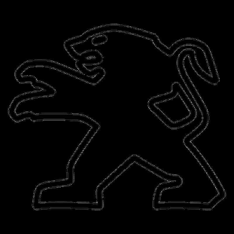 Sticker Peugeot Lion Logo Contour 2013
