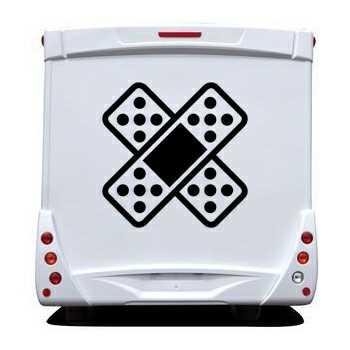 Sticker Wohnwagen/Wohnmobil auto Pflaster Verband Kreuz