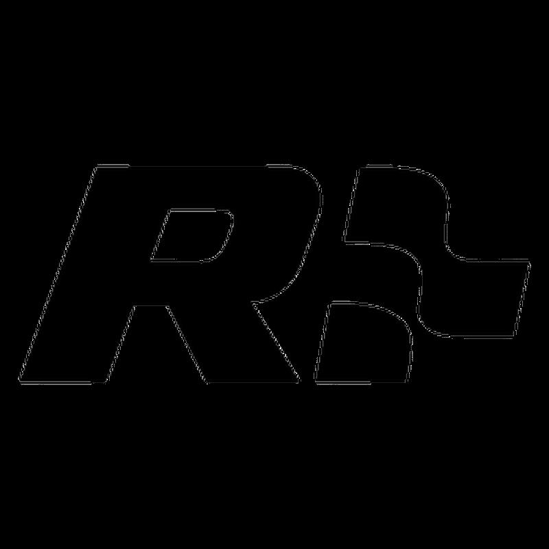 "VW Volkswagen ""R"" Racing Reversed Logo Decal"