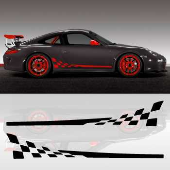 Porsche 911 GT3 RS car side stripes decals set