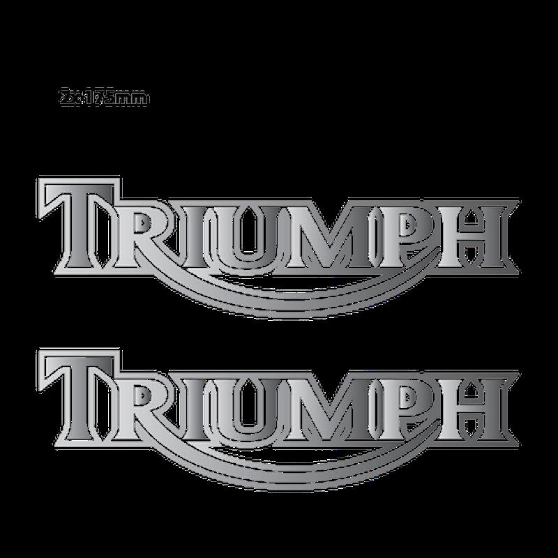 Triumph Classic Logo Chrome Decals - Set of 2 Decals