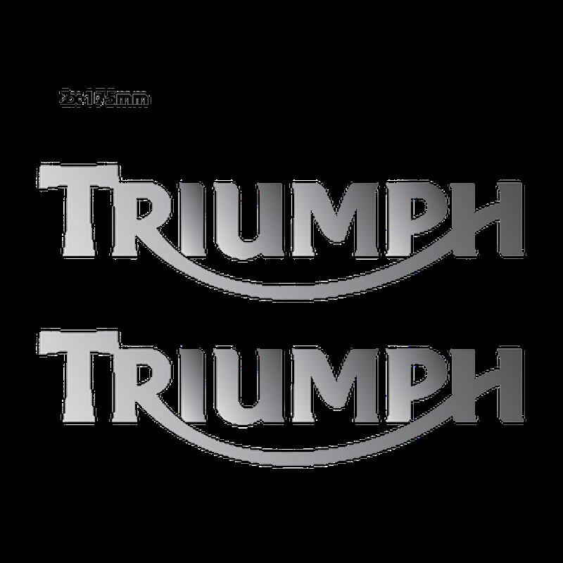 Triumph Logo Chrome Decals - Set of 2 Decals