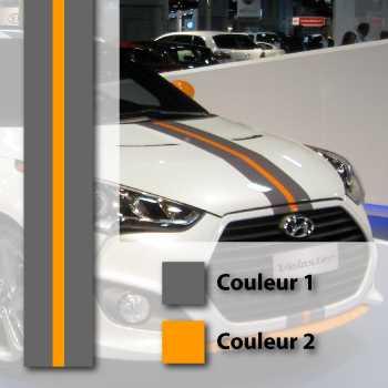 Hyundai Veloster Turbo style stripe decal