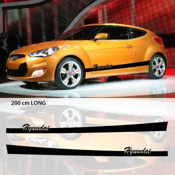 Kit Stickers Bandes Bas de Caisse Voiture Hyundai