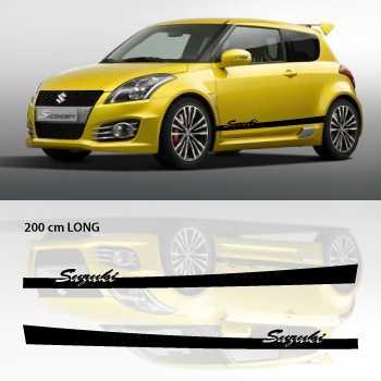 Suzuki car side stripes decals set